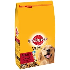 Croquettes au bœuf et légumes 4kg pour chien adulte